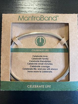 """Celebrate Life"" MantraBand Bracelet"