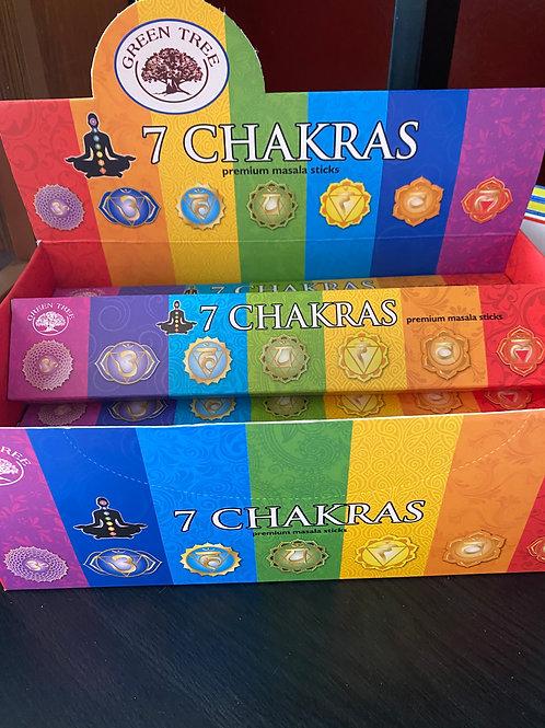 7 Chakras Premium Masala Sticks