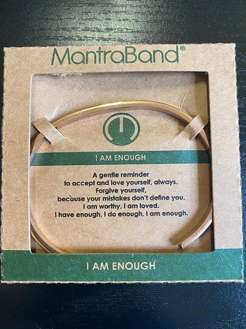 """"""" I Am Enough"""" MantraBand Bracelet"""