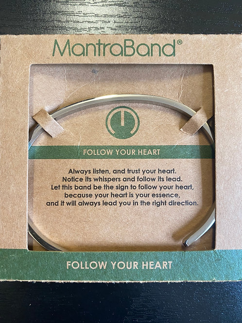 """Follow Your Heart"" MantraBand Bracelet"
