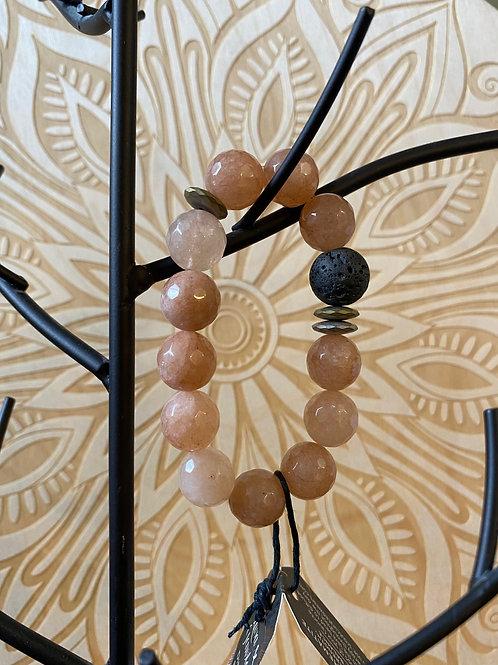 Lava, Hematite, and Gemstone Diffuser Bracelet