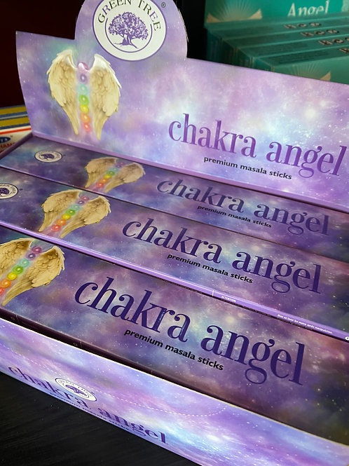 """Chakra Angel"" Green Tree Stick Incense"