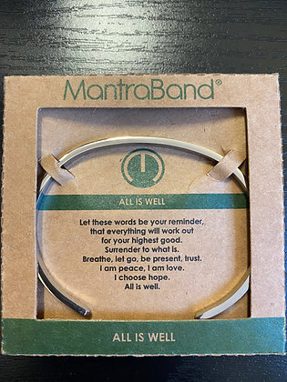 """All Is Well"" MantraBand Bracelet"