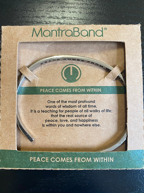 """Peace Comes From Within"" MantraBand Bracelet"