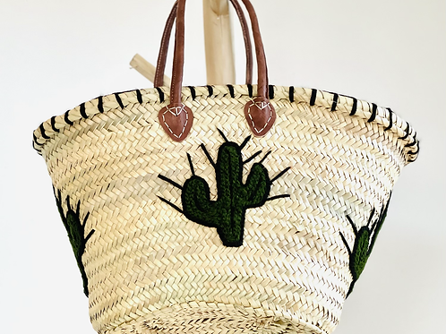 Panier moyen cactus vert foncé