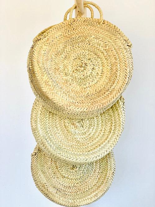 Série de 3 paniers ronds anses corde