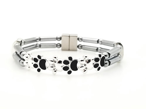 Black and Silver Dog Paws