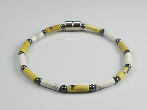 Yellow Turquoise and White Howlite