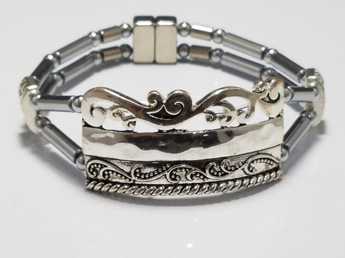 Silver Detailed Band
