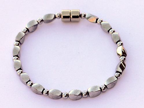 Silver Hematite Twist