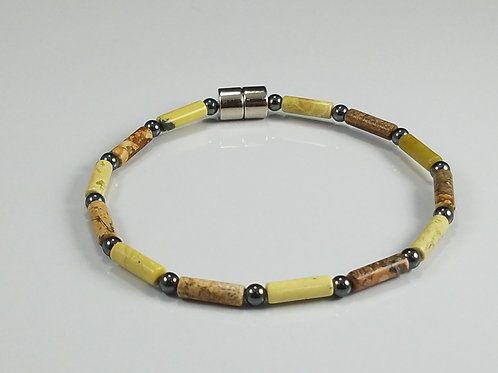 Yellow Turquoise and Picture Jasper
