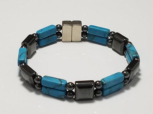 Hematite and Turquoise