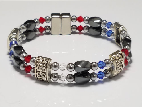 Spirit Colors Hematite Twist with Classic Spacer