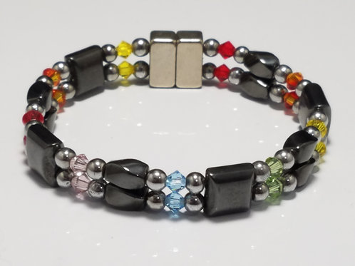 Rainbow Hematite Twist with Square