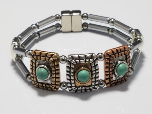 Mixed Metal and Turquoise