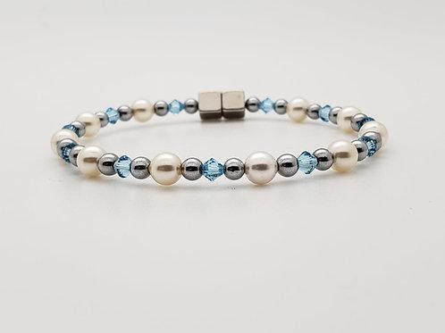 Cream Pearl with Swarovski Birthstone