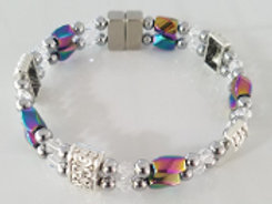 Iridescent Twist Clear Crystal
