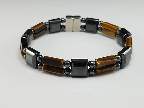 Hematite Square with Tiger's Eye