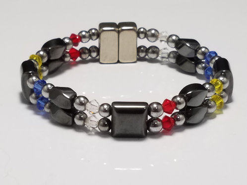 Spirit Colors Hematite Twist with Square