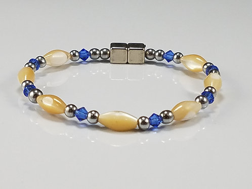 Natural Mother of Pearl with Crystal