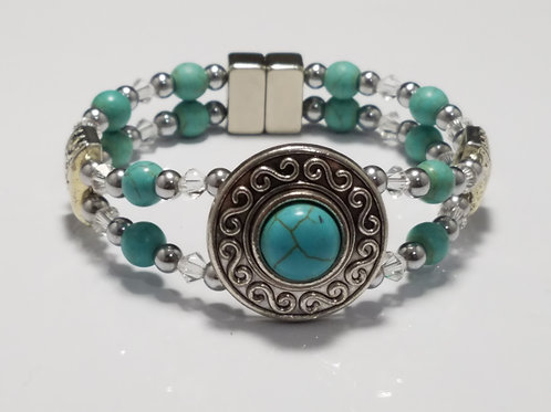 Turquoise with Crystal