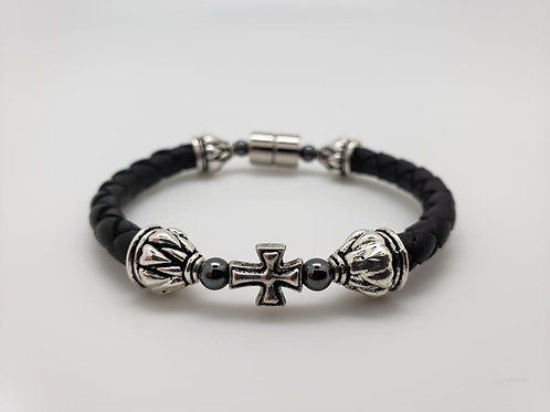 Leather Cord with Cross
