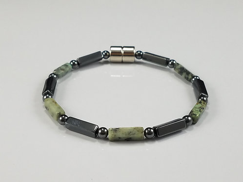 Hematite and African Jade