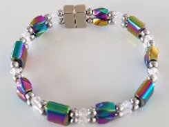 Iridescent Twist & Square Clear Crystal