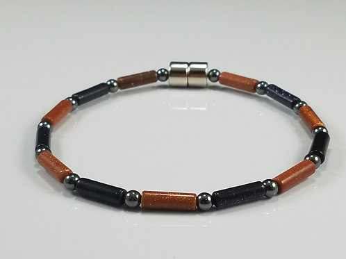 Brown Goldstone and Blue Goldstone