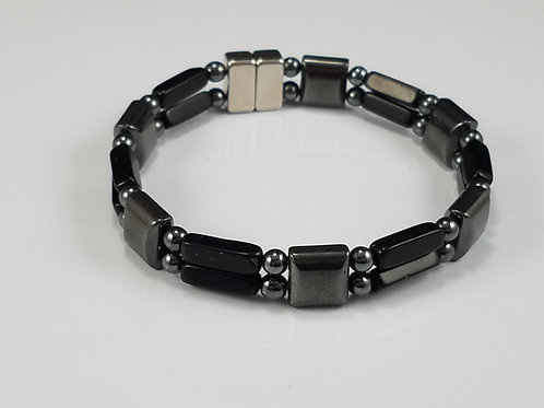 Hematite Square with Black Onyx