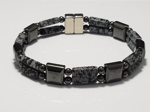Hematite and Snowflake Obsidian