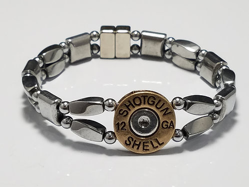 Brass Shotgun Shell Silver Twist with Silver Center