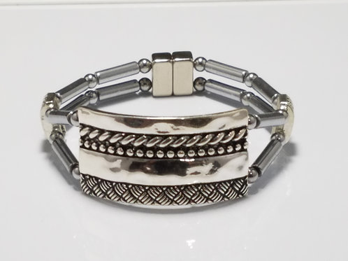 Silver Detailed Band 2