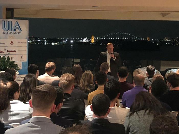Speaking event in Australia