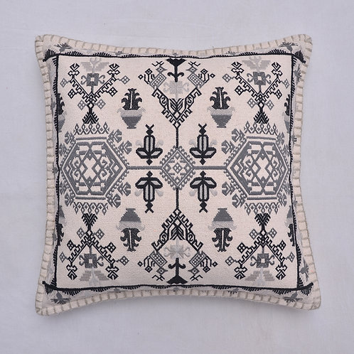 SABRA SILK INSPIRED EMBROIDERED CUSHION COVER