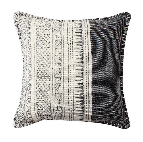 HAND BLOCK PRINTED RUG CUSHION COVER