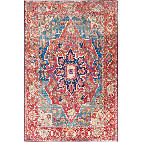 PRINTED COTTON RUG FOR LIVING ROOM