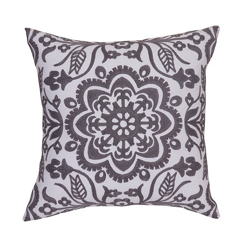 "18""X18"" EMBROIDERED THROW PILLOW COVER"