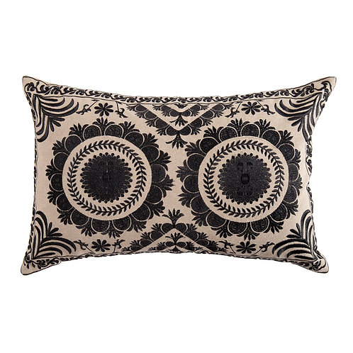 EMBROIDERED LUMBAR PILLOW COVER