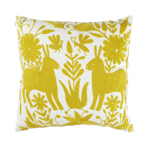 EMBROIDERED OTOMI CUSHION COVER