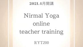 【2021年4月開講】RYS認定 ニーマルヨガオンラインTT