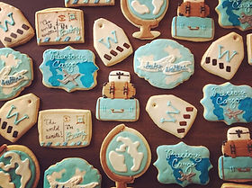 little traveler baby shower cookie colle