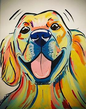 #petportrait of Benson the #goldenretrie