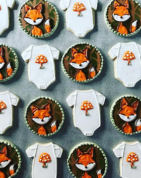 woodland fox baby shower cookie collecti