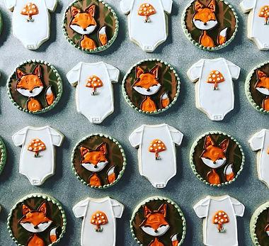 woodland fox baby shower cookie collection.jpg