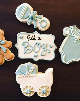traditional baby shower cookie collectio