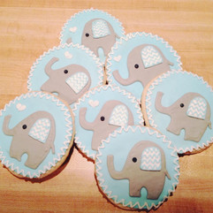 elephant baby shower cookie collection.j