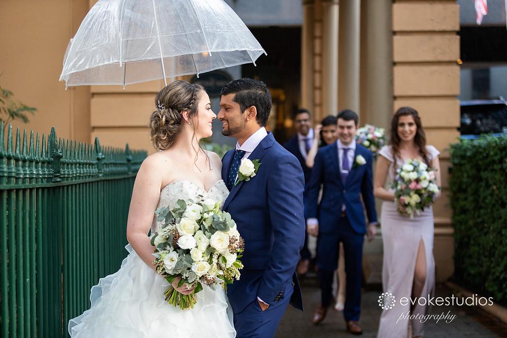 Rain wedding day