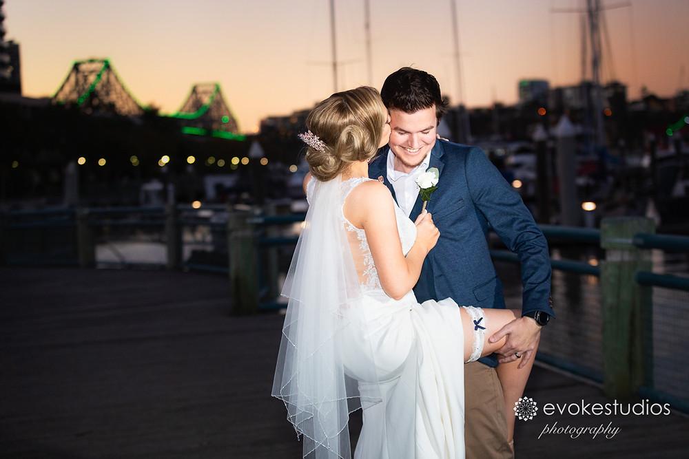 Romantic wedding photography dockside
