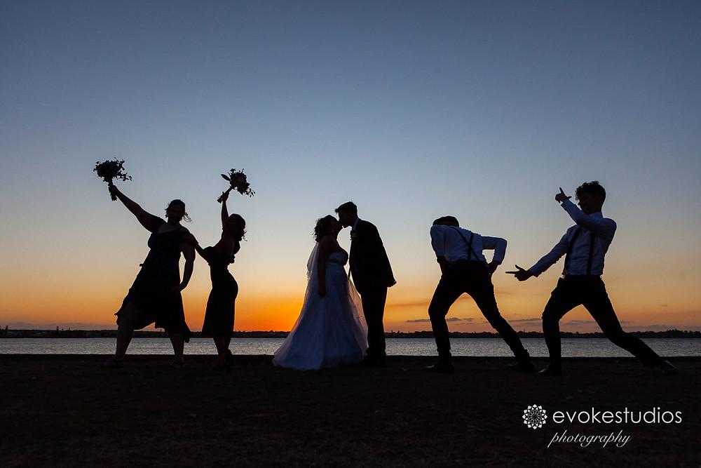 Cleveland wedding photographer sunsets